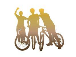 équipe de vélo sur le vecteur graphique d & # 39; illustration