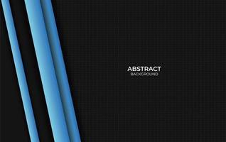 dessin abstrait bleu et noir vecteur