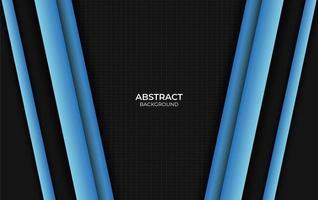 conception abstraite de style bleu et noir vecteur