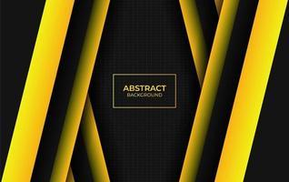 abstrait moderne jaune et noir vecteur