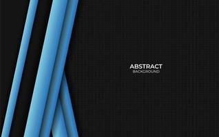 conception abstraite fond de style bleu et noir vecteur