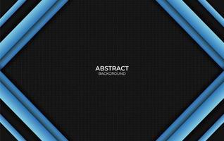 design style abstrait fond bleu et noir vecteur