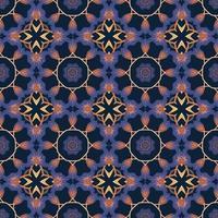 modèle sans couture avec illustration d'arabesque ornementale mandala abstraite. vecteur
