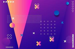 fond géométrique violet. composition de formes géométriques fluides.