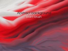 fond rouge abstrait avec pinceau vecteur
