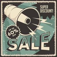affiche de réduction de super vente vintage rétro classique
