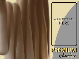 fond de modèle de chocolat avec pinceau