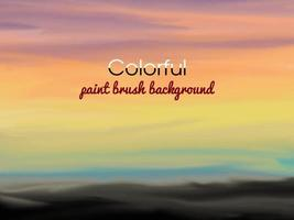 fond abstrait coloré avec un pinceau vecteur