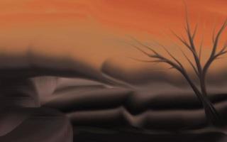 fond de nature au crépuscule avec un pinceau