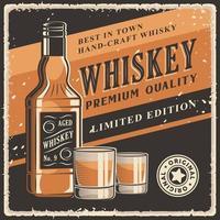 affiche de signalisation de whisky rétro vecteur classique rustique