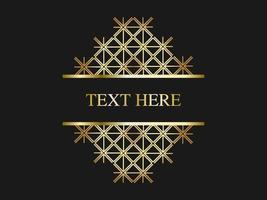 motif de treillis doré avec un espace pour le texte