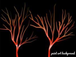 fond naturel et arbres de couleur unique sur la nuit noire avec de la peinture