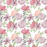 modèle sans couture floral aquarelle rose pivoine pastel