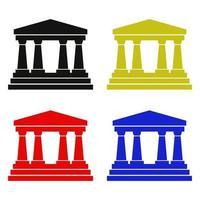 banque sur fond blanc