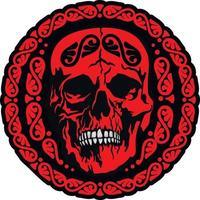 signe gothique avec crâne, t-shirts design vintage grunge vecteur