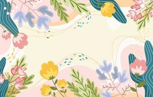 fond plat floral nature printemps. vecteur