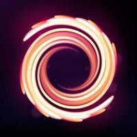 lignes courbes de lumière néon magique, fond abstrait. illustration vectorielle vecteur