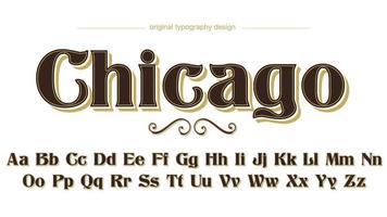 café serif de luxe à des fins multiples effet de texte de typographie vecteur