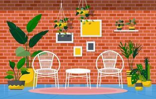 plante d'intérieur tropicale plante décorative verte dans l'illustration du salon