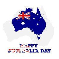 bonne journée australienne pour la conception d'une journée indépendante vecteur