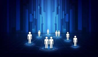 Connexion réseau Internet de communication avec les médias sociaux vecteur
