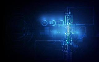antenne transmission communication tour vecteur fond concept
