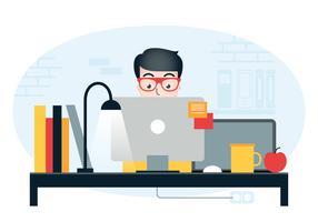 Illustration de station de travail Vector Designer