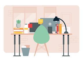 Illustration de bureau de concepteur de vecteur