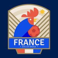 Badge de football français vecteur