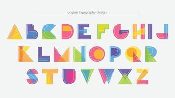 formes de dessin animé géométrique coloré lettres isolées vecteur
