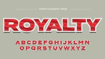 typographie de logo de jeu en majuscules argent et rouge en gras vecteur