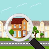 Liste de biens immobiliers vecteur