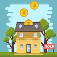 Liste immobilière vecteur