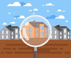 Illustration de l'inscription immobilière vecteur
