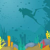 Illustration vectorielle de plongée sous-marine