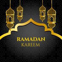 Vecteur d'or ramadan kareem