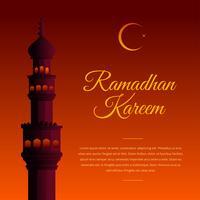 Ramadhan Kareem Salutation vecteur