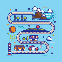 Illustration de la carte routière