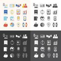 icônes définies conception de vecteur de technologie entreprise.
