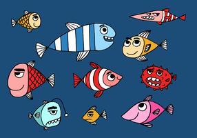 Illustration de poisson mignon vecteur
