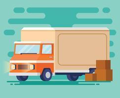 Illustration de camion de déménagement vecteur