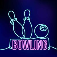 néon bowling vecteur