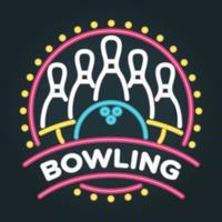 Illustration vectorielle au néon Bowling vecteur