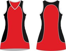 robes de netball maquettes sublimées vecteur