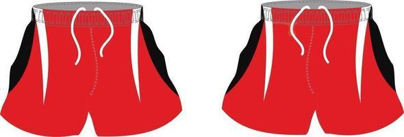 maquettes de shorts sublimés de rugby vecteur