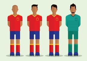 Personnages de football espagnols vecteur