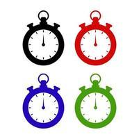 chronomètre sur fond blanc vecteur
