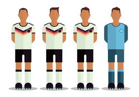 Personnages de football allemands vecteur