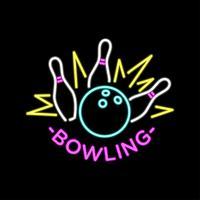 vecteur de bowling néon