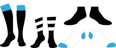 chaussettes longues chaussettes mi chaussettes vecteur